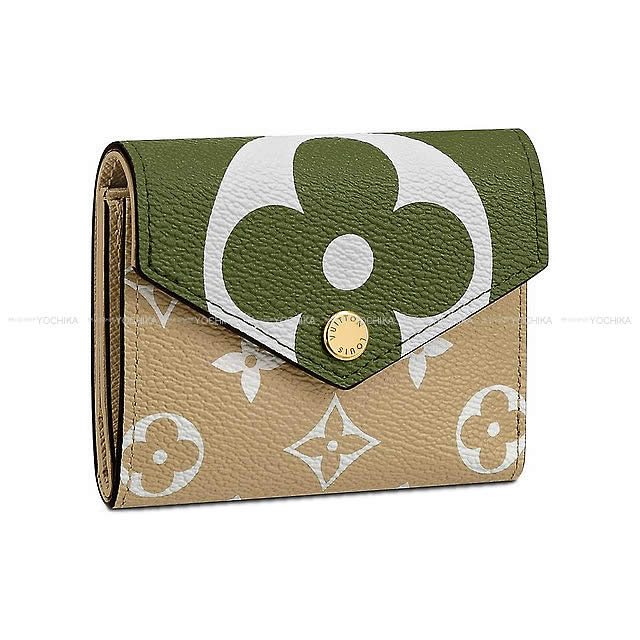 huge discount 4885a 643bd LOUIS VUITTON ルイ・ヴィトン コンパクト 折財布 ポルトフォイユ・ゾエ カーキ M67640 新品